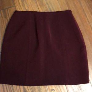Bebe maroon pencil skirt size 6